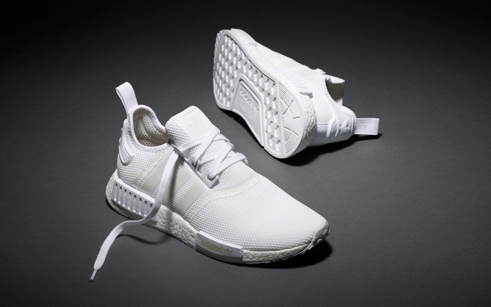 Adidas NMD_R1All White Sneakers