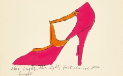 Andy Warhol Shoe Sketch Sotheby's Auction