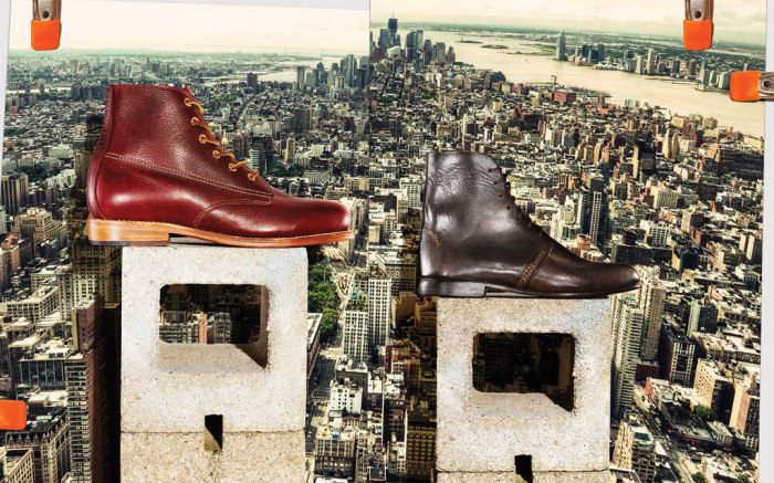 Artola's lace-up boot & A.B.K's top-stitched boot