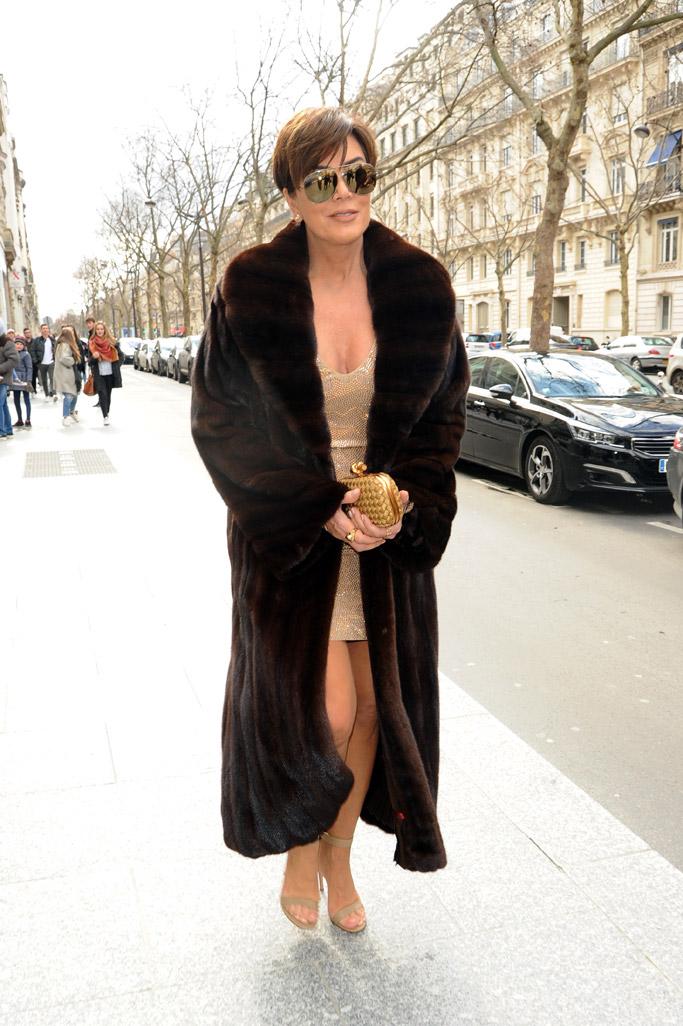 Kris Jenner Paris Fashion Week