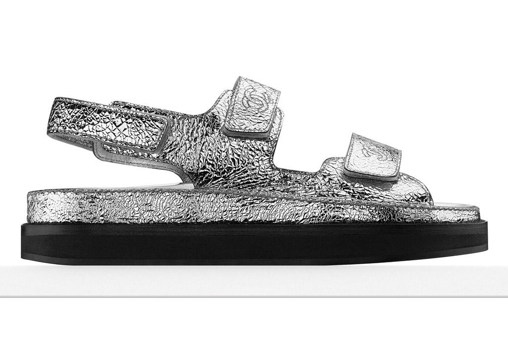 Chanel Metallic Sandals Pedder