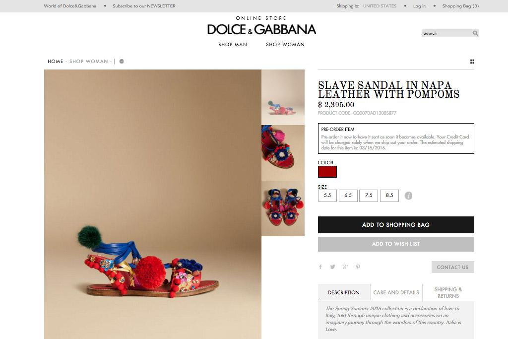 Dolce & Gabbana Slave Sandals