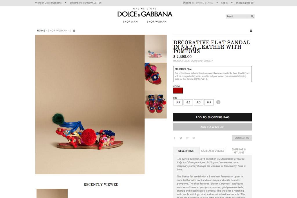 Dolce & Gabbana Slave Sandal