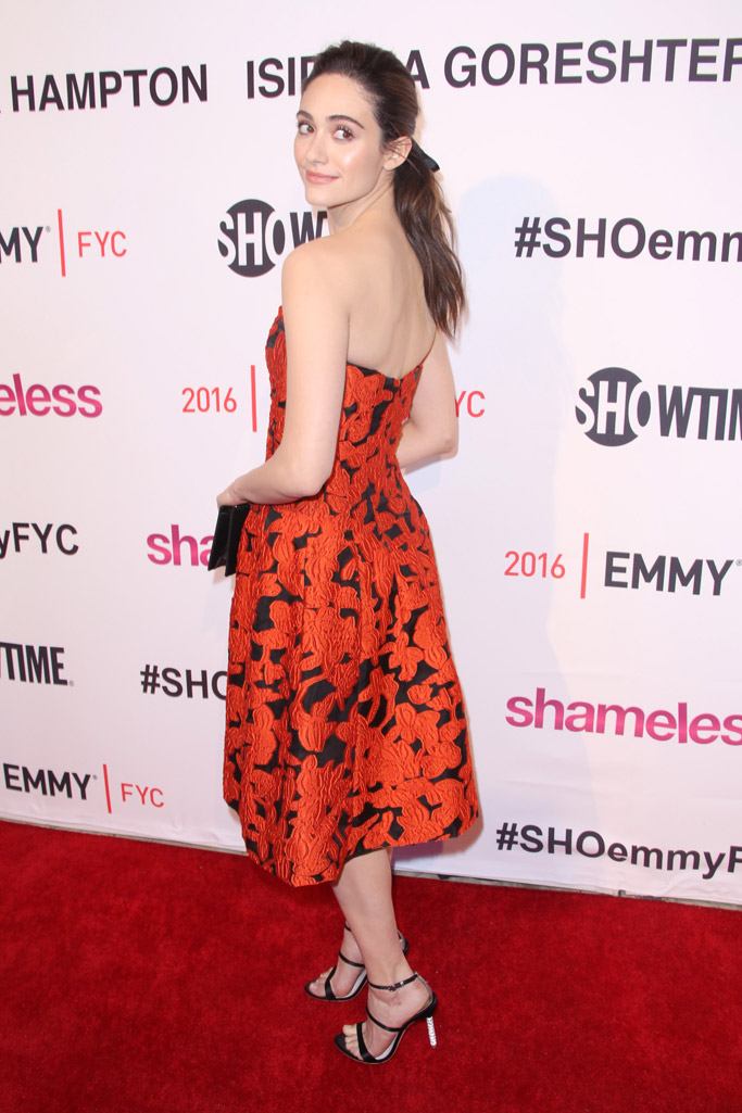 Emmy Rossum Celebrity Statement Shoe Spring 2016