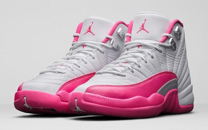 Girls' Air Jordan 12 Retro Vivid Pink