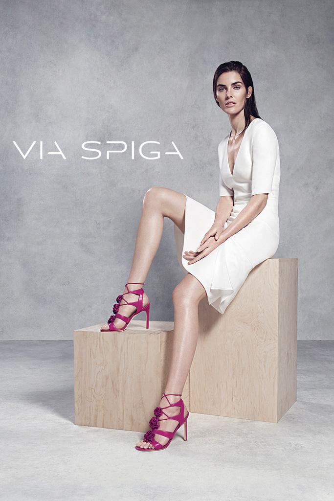 Hilary Rhoda Via Spiga Spring '16 Campaign