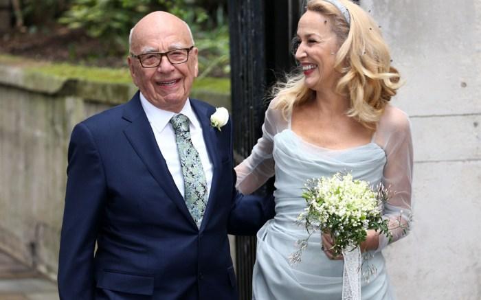 Rupert Murdoch & Jerry Hall Marry