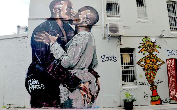 Kanye West Mural Australia