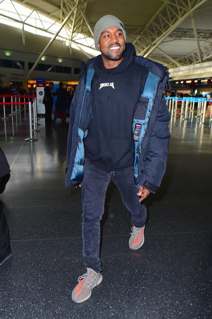 kanye west wearing yeezy 350