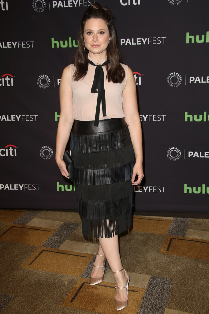 Katie Lowes Celebrity Statement Shoes Spring 2016