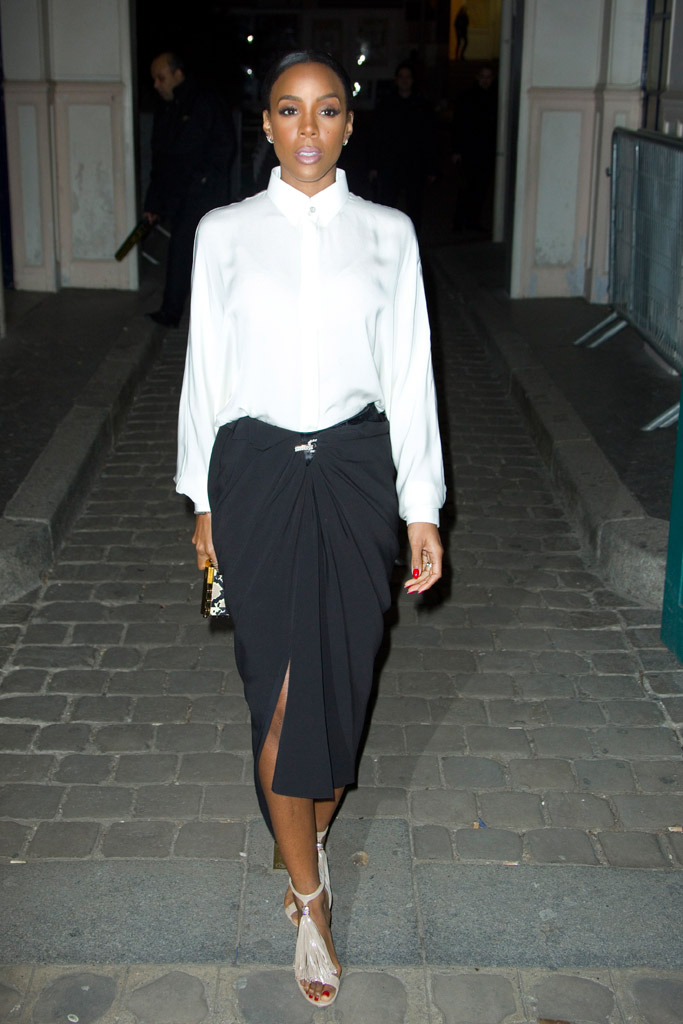 Kelly Rowland PFW Shoes Style