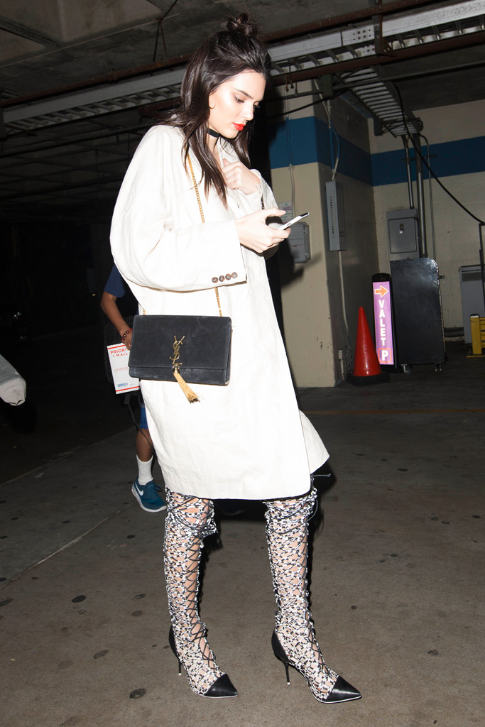 Kendall Jenner Lakers Game Sophia Webster Boots