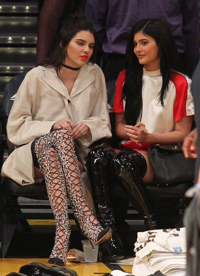 Kendall Kylie Jenner Shoes Lakers Game