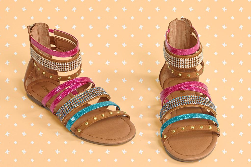 Kidpik strippy sandals