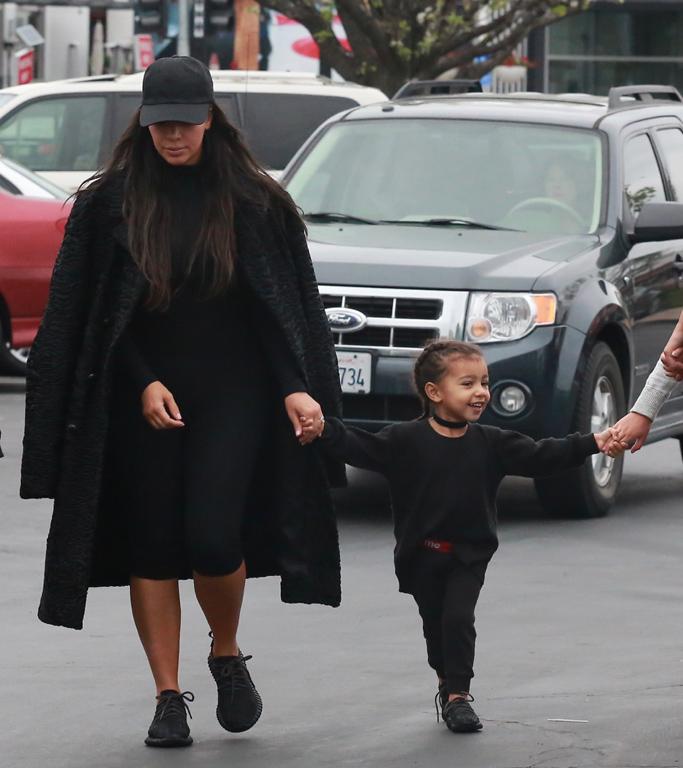 Kim Kardashian West Black Yeezys