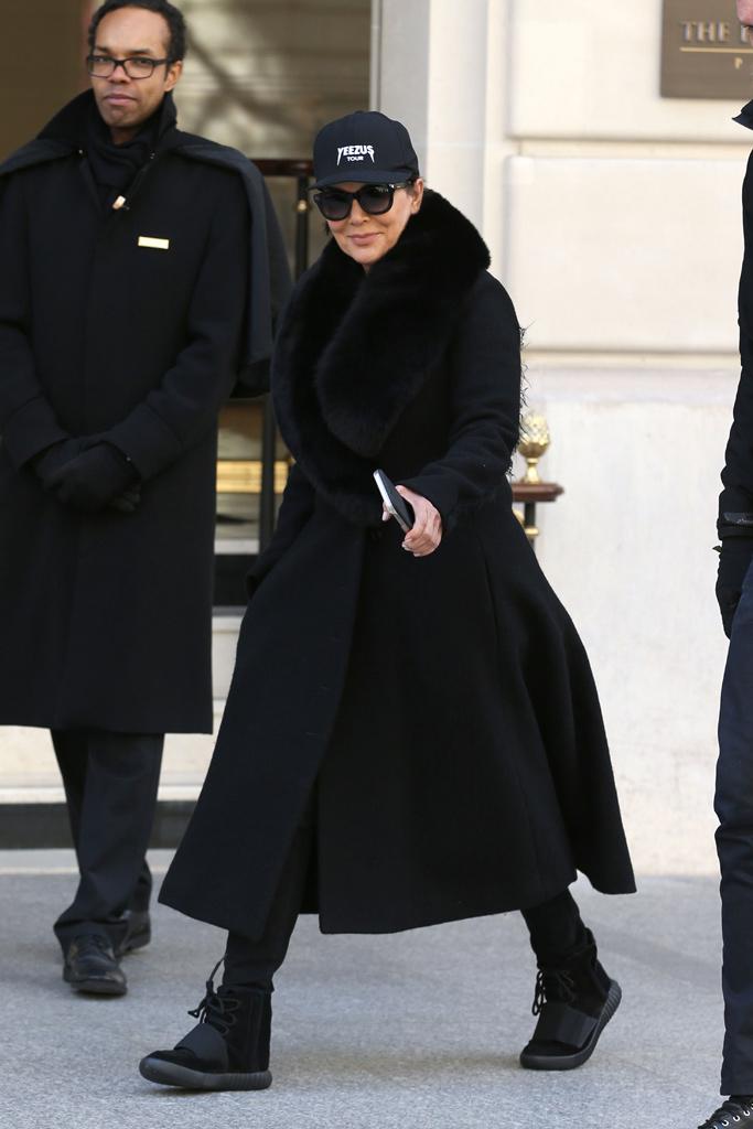 Kris Jenner Paris Yeezys