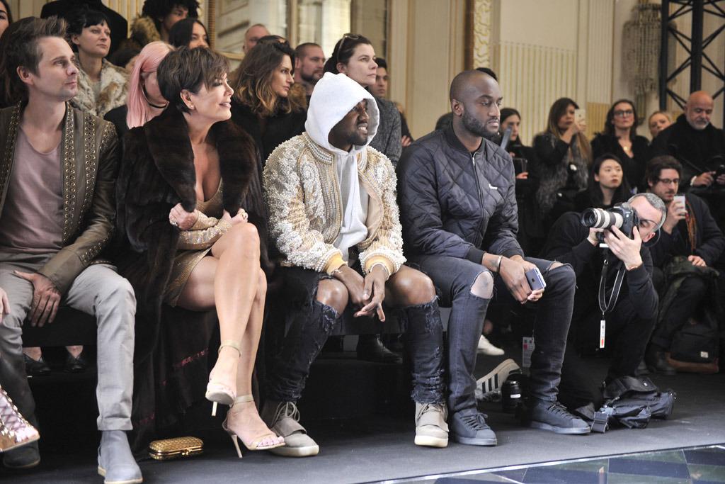 Front Row Balmain Fall 2016 Paris Fashion Week