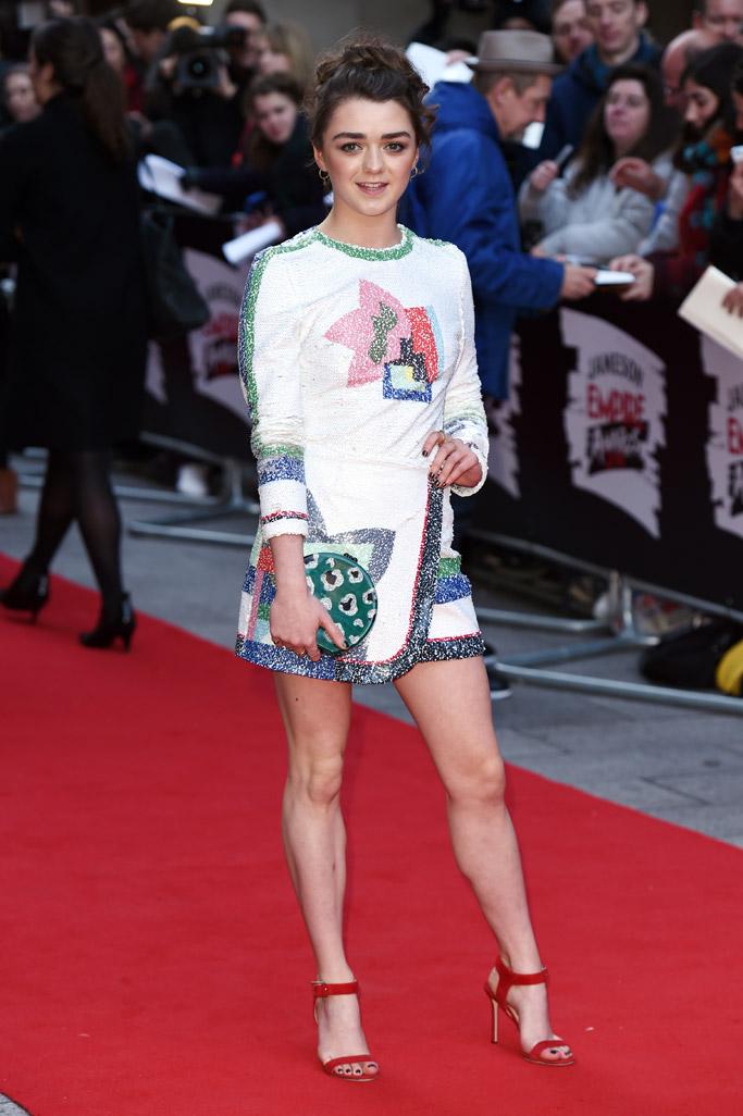 Maisie Williams Celebrity Statement Shoes Spring 2016