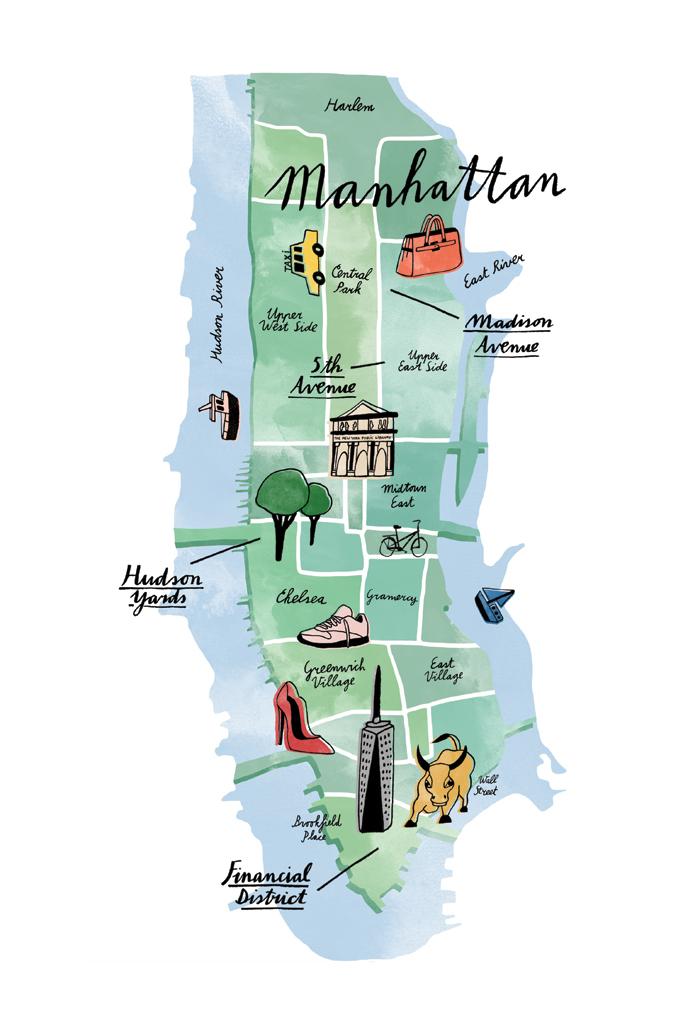 An illustration of Manhattan.