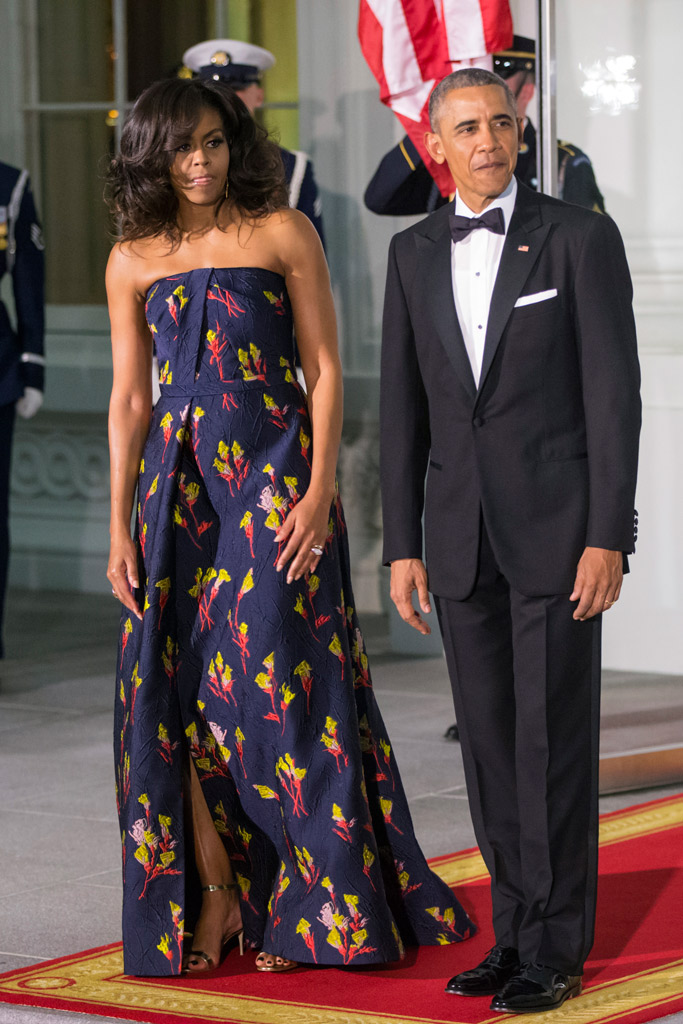 Michelle Obama White House State Dinner Manolo Blahnik Sandals