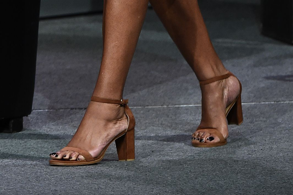 Michelle Obama Stuart Weitzman Sandals SXSW