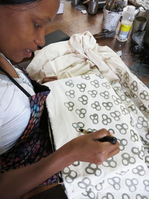 Boabab Batik in Africa for Oliberte