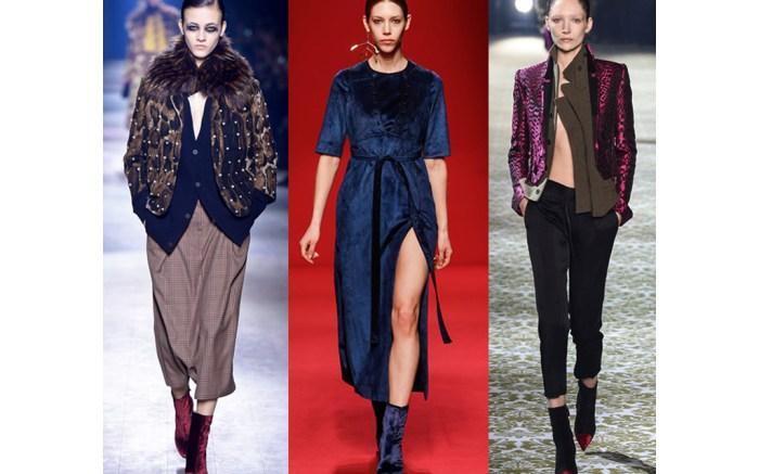 paris fashion week velvet trend