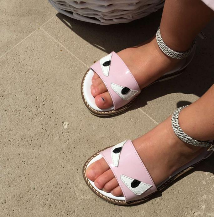 Penelope Disick Fendi Monster Sandals
