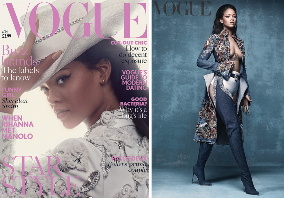 Rihanna British Vogue Cover April 2016