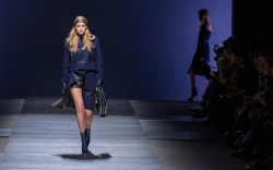 Gigi Hadid on the Versace fall