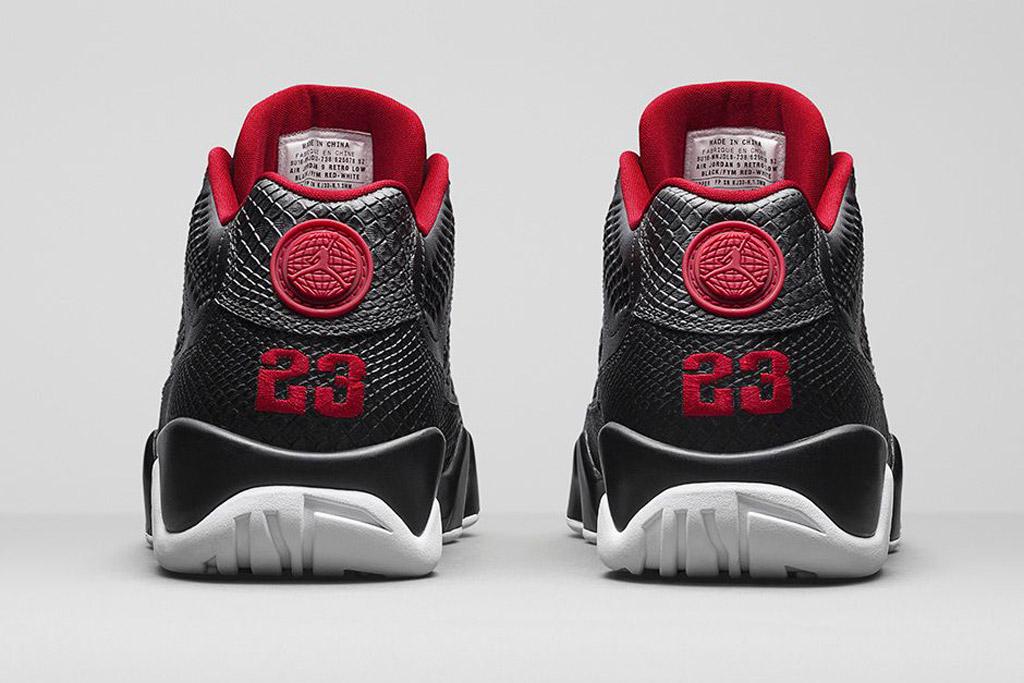 Air Jordan 9 Retro Low Black/White