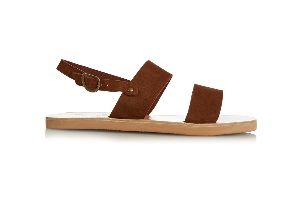 ancient greek suede sandal