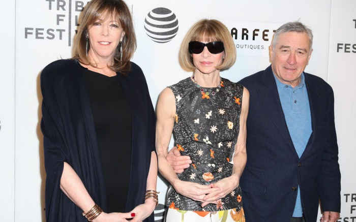Jane Rosenthal, Anna Wintour and Robert De Niro