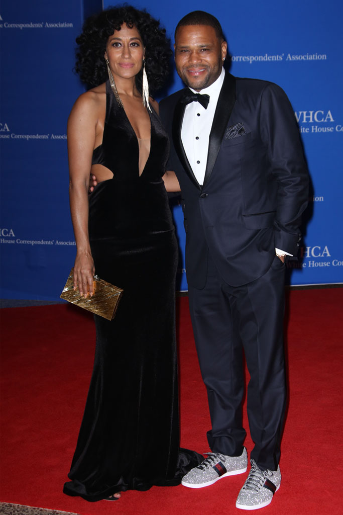 tracee ellis ross anthony anderson gucci white house correspondents dinner