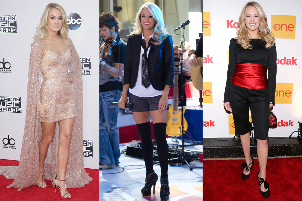 Carrie Underwood American Idol Style Then And Now