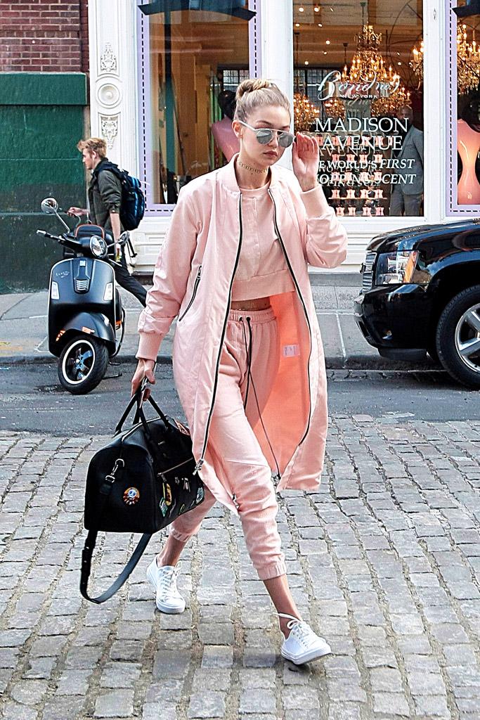 Gigi Hadid Celebrity Sneakers Style