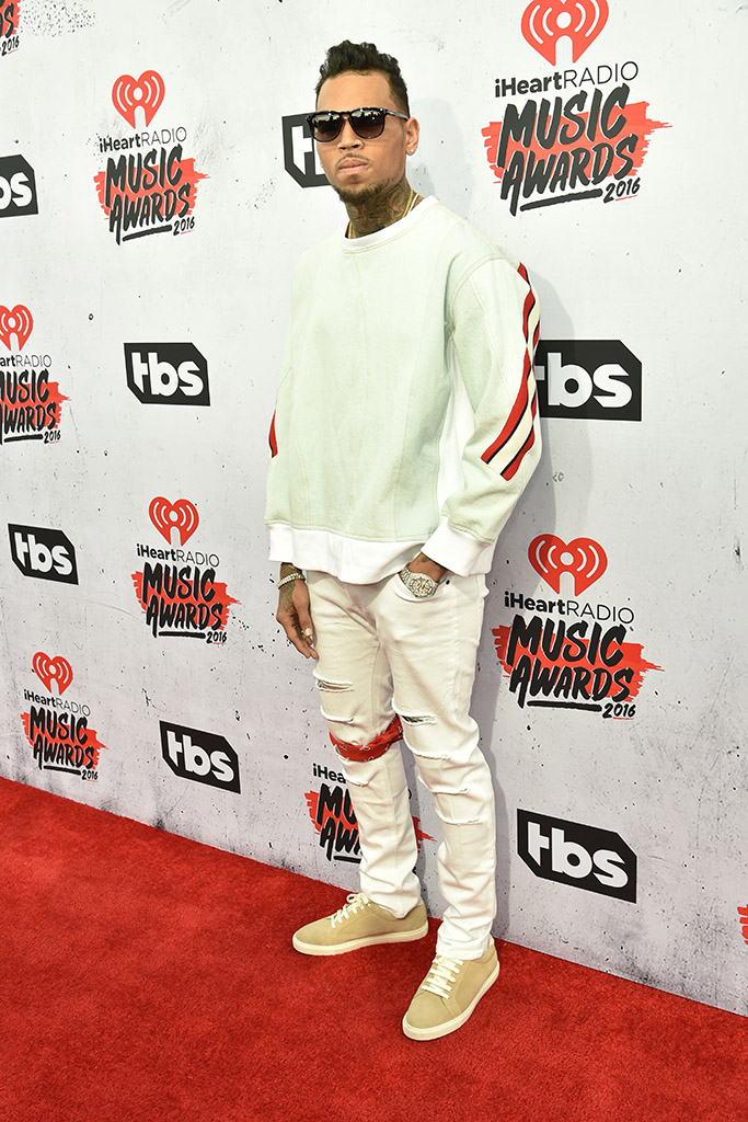 Chris Brown iHeartRadio Awards 2016 Red Carpet