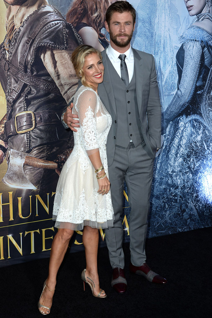 Chris Hemsworth Elsa Pataky The Huntsman: Winter's War Premiere