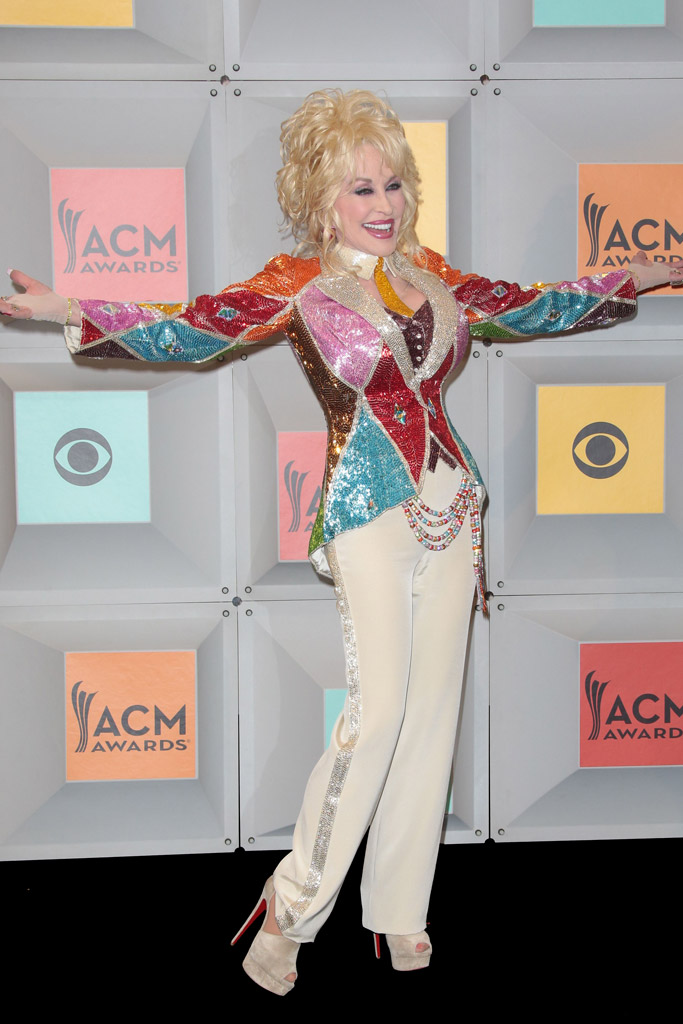 Dolly Parton in Christian Louboutin heels