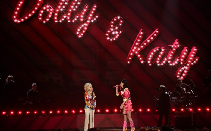 Dolly Parton and Katy Perry at the ACM Awards.