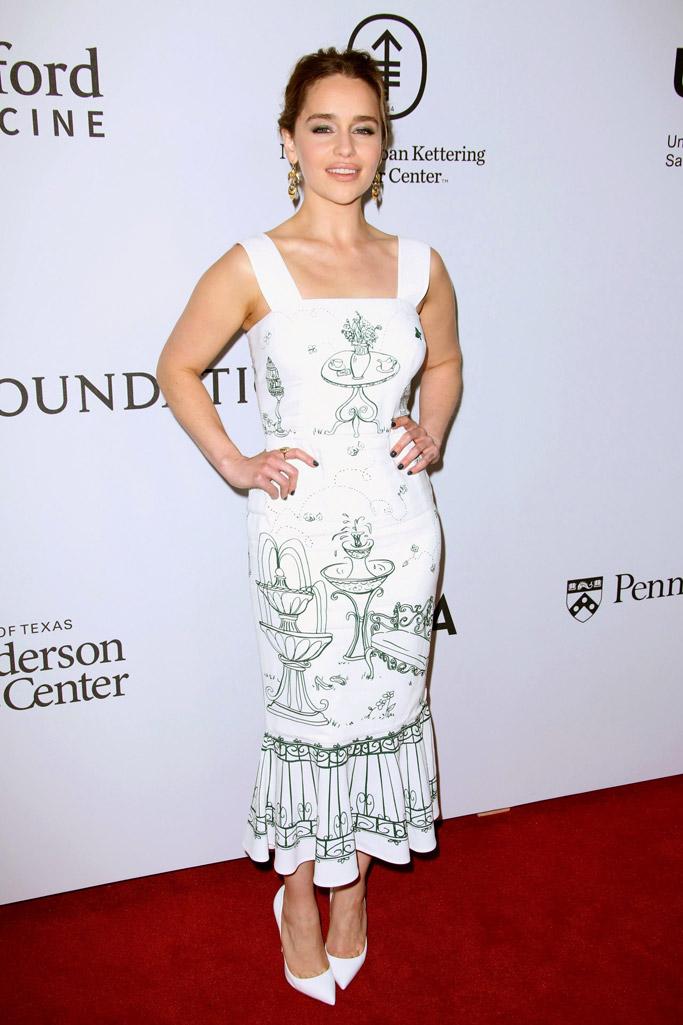 Emilia Clarke Celebrity Statement Shoes Spring 2016