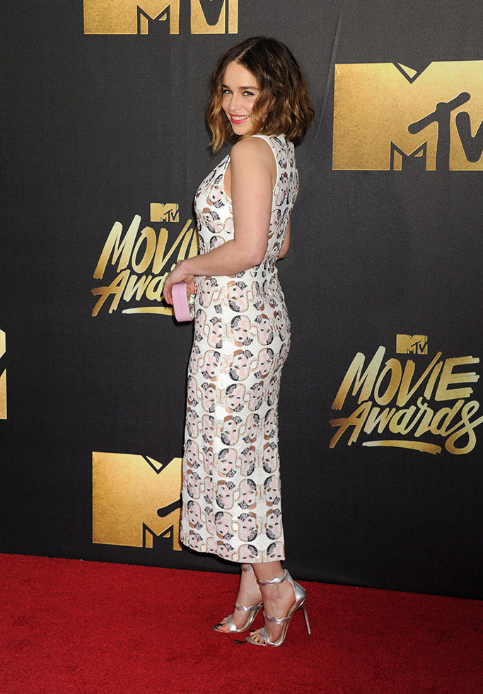 Emilia Clarke MTV Movie Awards 2016 Red Carpet