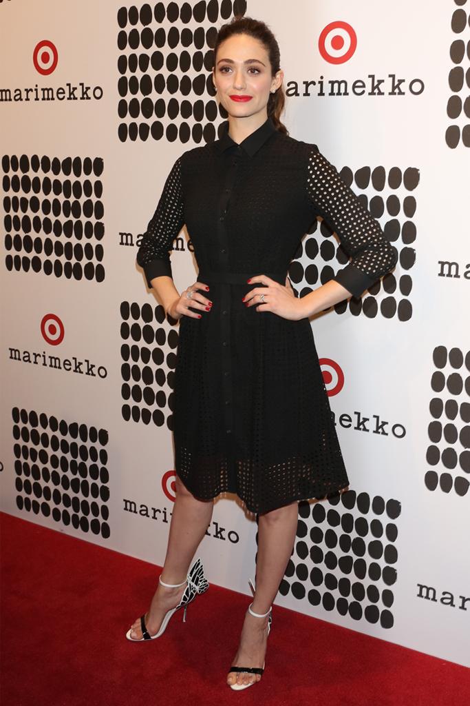 emmy rossum Marimekko sophia webster sandals heels target