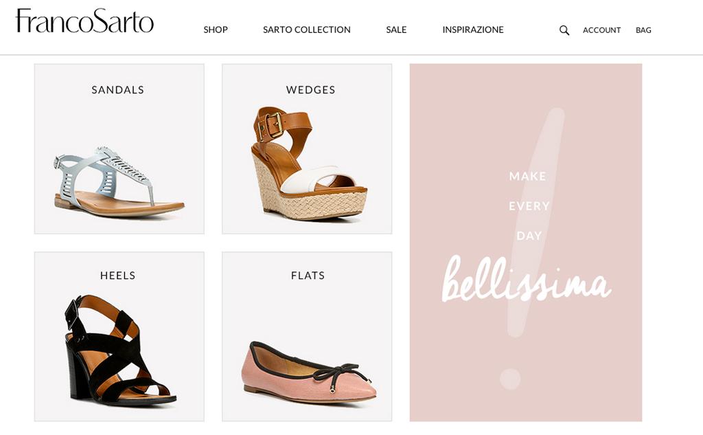 Franco Sarto website