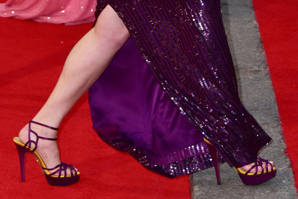 Gemma Arterton Celebrity Statement Shoes Spring 2016