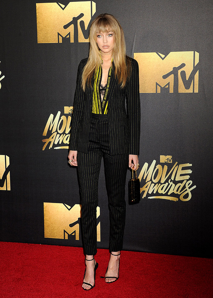 Gigi Hadid MTV Movie Awards 2016 Red Carpet