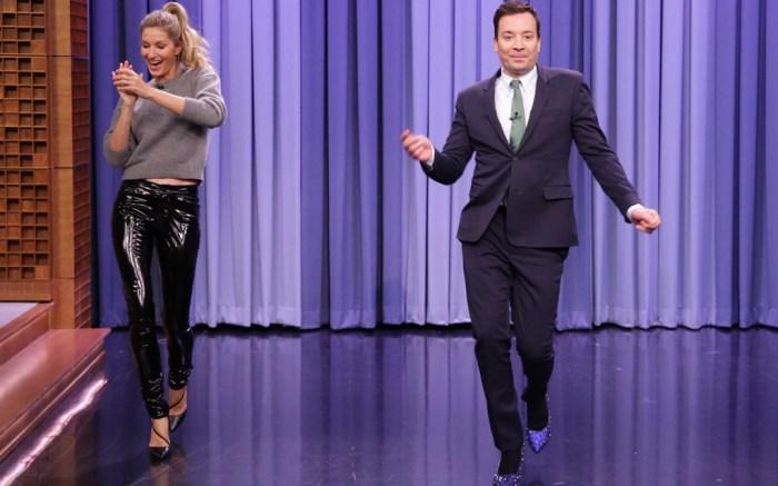 Jimmy Fallon Heels Tonight Show