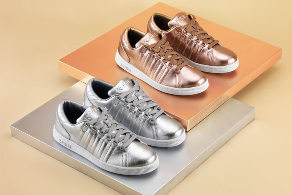 K-Swiss Trainers Shine Bright In Silver