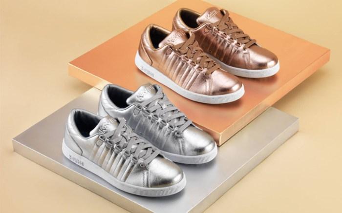 k-swiss sneakers trailers foil gold silver