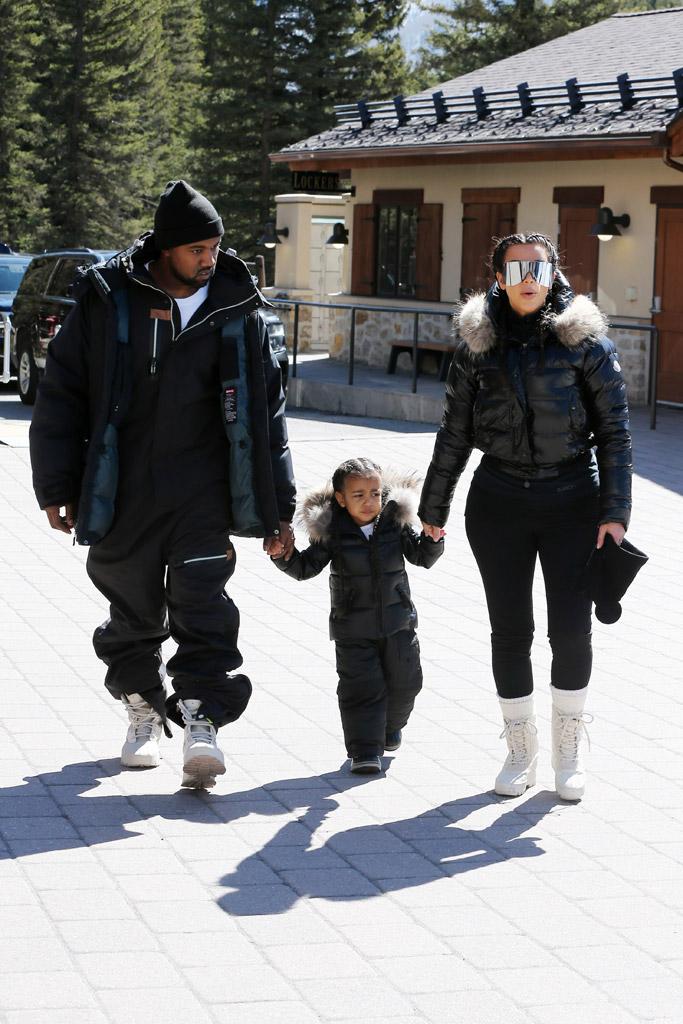 Kanye West Kim Kardashian Ski Trip Yeezy Boots